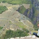 Bick vom Wayna Picchu auf Machu Picchu