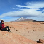 Blick auf die Feuerkette zwischen Bolivien und Peru