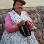 Der Hut als Markenzeichen der peruanischen Frauen