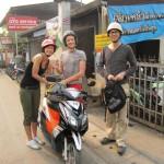 Mit dem Moped unterwegs