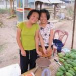 Mango-Mädchen auf Markt