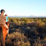 Pferdeaustritt bei Sonnenuntergang in Outshorn