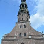 St. Petrikirche in Riga: Panoramablick auf die Altstadt.