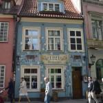 Wunderschöne Architektur in Rigas Altstadt.