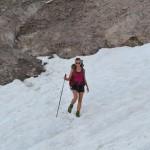 Schnee im Juli: Bei einer Alpenüberquerung keine Seltenheit.