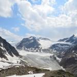 Blick auf die Wildspitze von der Braunschweiger Hütte.