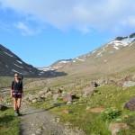 Auf dem Weg zum höchsten Punkt der Alpenüberquerung: Similiaun Hütte.