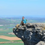 Nichts für schwache Nerven: Felsvorsprung Staffelberg.