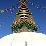 Die Stupa Swayambunath thront magisch über Kathmandu