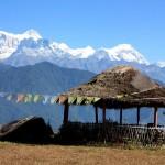 Blick auf das Annapurna Bergmassiv