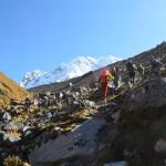 Aufstieg zum Salkantay Trail: Die Lugt wird dünn.