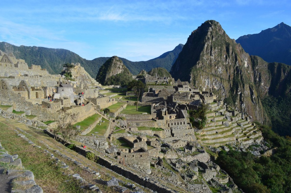Das Highlight: Nach 5 Tagen Wanderung erreichen wir die Inka Ruine Machu Picchu.