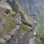 Steil bergab geht's vom Wayna Picchu.