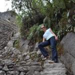 Nichts für Weicheier: Abstieg vom Wayna Picchu.