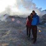 Morgengrauen auf dem Kraterrand