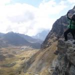 Mountainbiken auf der Todesstraße von Bolivien