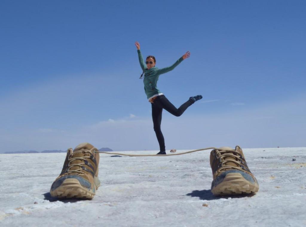 Das Spiel mit der Perspektive: Prima Ballerina in Bolivien.