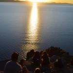 Sonnenuntergang am Titikakasee