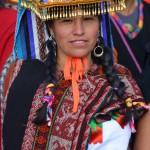 Traditionelle Kleider in Peru