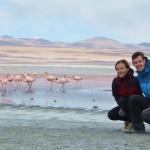 Zwei Weltenbummler an der Laguna Colarada