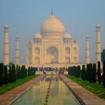 Taj Mahal bei Sonnenaufgang