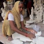 Frau in Agra