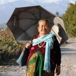 Frau in Pokhara