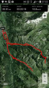 Streckenübersicht Höfats-Traum und Berghoibats