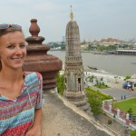 Blick vom Wat Arun auf Bangkok