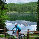 Mountainbiken am Karersee