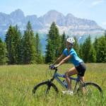 Panorama Mountainbiken am Latemar