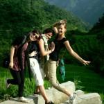 Wir Mädels beim Wandern rund um Rishikesh