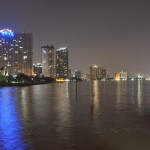 Nachts in Bangkok - Blick vom Chao Phraya