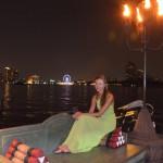 Skyline Bangkok vom Chao Phraya
