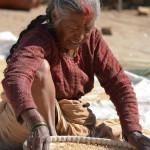 Marktfrau in Bhaktapur Nepal