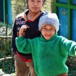 Kinder in der Annapurna Region Nepal