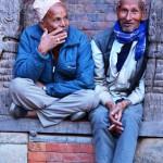 Straßenszenen - Männer in Bhaktapur Nepal