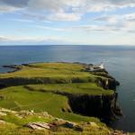 Mit dem Auto über die Isle of Skye. Vorsicht Gegenverkehr!