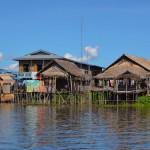 Schwimmende Dörfer am Inle See
