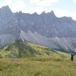 Austieg zum Mahnkopf während der Hüttenwanderung Karwendel.