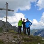 Gipfelstürmer: Steil ist der Weg von der Falkenhütte zum Gipfel des Mahnkopf.