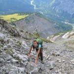 Kraxeln bis zum Ziel: Nichts für Anfänger ist der Steinfalk Gipfel im Karwendel.