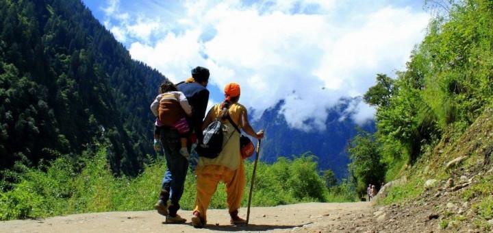 Unterwegs im indischen Himalaya Gebirge