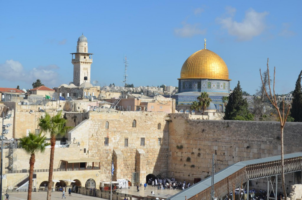 Tempelberg mit der brühmten al-Aqsa-Moschee in Jerusalem