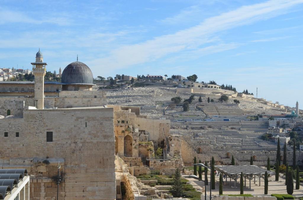 Blick auf den Ölberg in Jerusalem