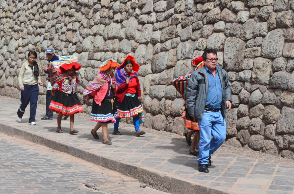 Stadtmauer in Cusco: Perfekte Inka Bauweise.
