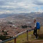 Ausblick auf Cusco von den Inka Ruinen Sacsayhuamán.