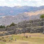 Inka Ruinen Sacsayhuamán bei Cusco.