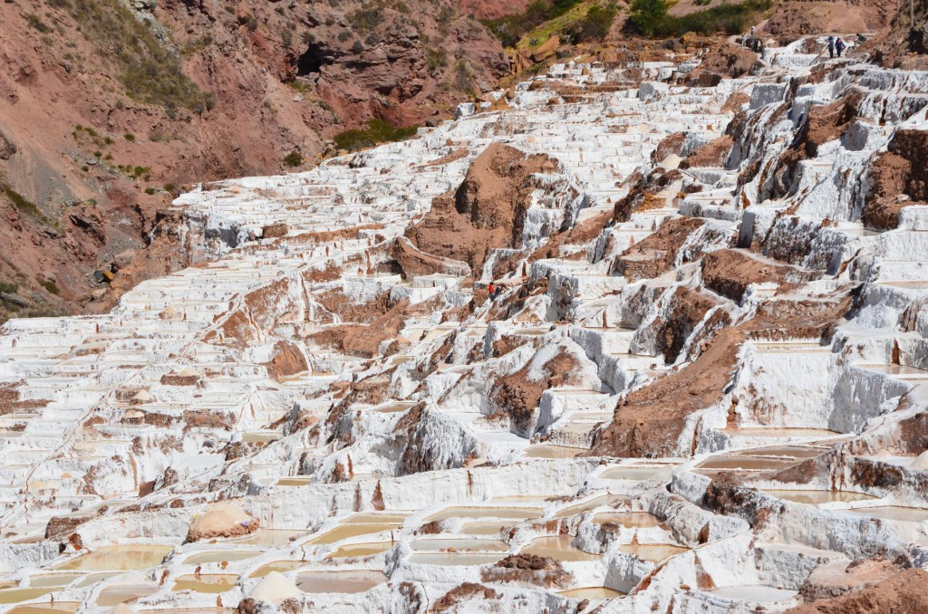 Salzterrassen von Maras: Salzgewinnung nach Art der Inkas.