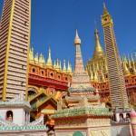 Der schönste Tempel in Myanmar: Thanboddhay Pagode in Monywa.